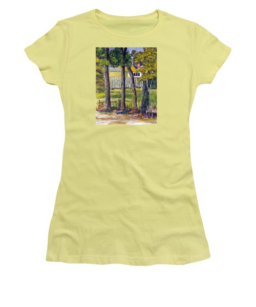 Looking Into Brenn Marr Women's T-Shirt (Junior Cut) by Jim Phillips