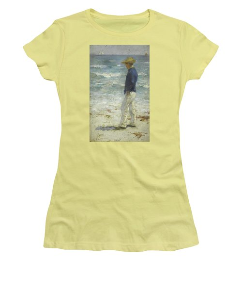 Looking Out To Sea Women's T-Shirt (Junior Cut) by Henry Scott Tuke