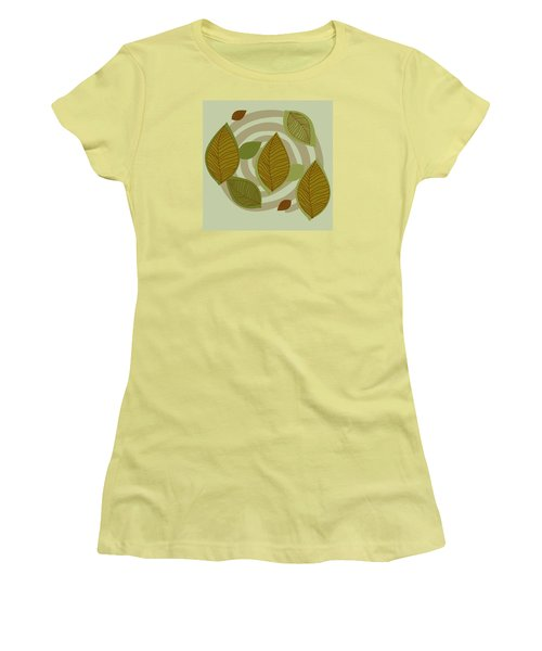 Women's T-Shirt (Junior Cut) featuring the drawing Looking To Fall by Kandy Hurley