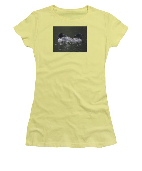 Loon Pair Women's T-Shirt (Athletic Fit)