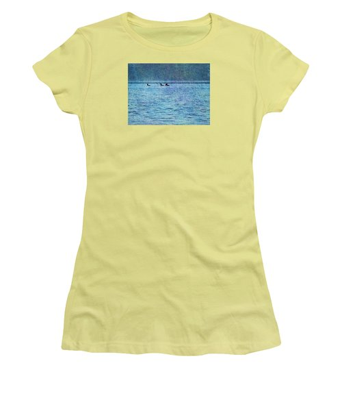 Loons On The Lake Women's T-Shirt (Athletic Fit)