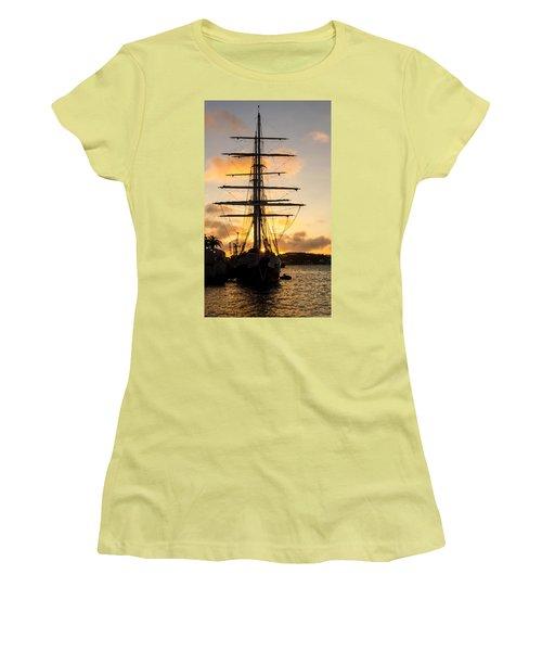 Lord Nelson Sunrise Women's T-Shirt (Junior Cut) by Jeff at JSJ Photography