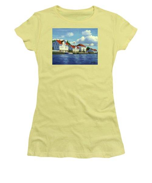 Loshavn Village Norway Women's T-Shirt (Athletic Fit)