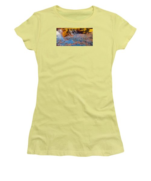 Women's T-Shirt (Junior Cut) featuring the photograph Lost In The Pond by Spyder Webb