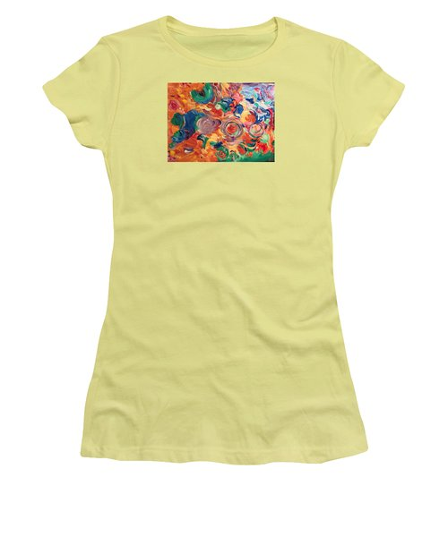Lotus Blooms Women's T-Shirt (Athletic Fit)