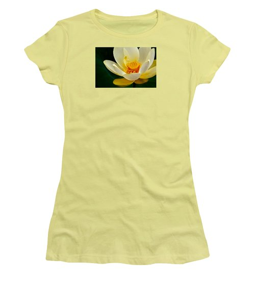 Lotus Blossom Women's T-Shirt (Junior Cut) by Tyson and Kathy Smith
