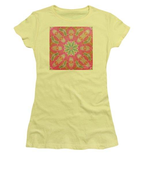 Lotus Garden Women's T-Shirt (Junior Cut) by Mo T