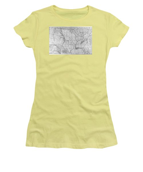 Louisiana Purchase Map Women's T-Shirt (Athletic Fit)