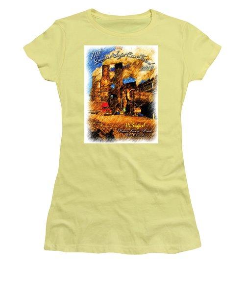 Louisiana Sugar Cane Poster 2012 Women's T-Shirt (Junior Cut) by Ronald Olivier