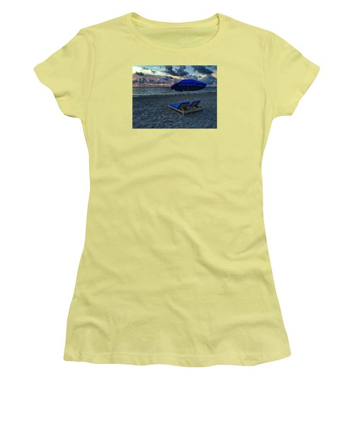 Lounging By The Sea Women's T-Shirt (Athletic Fit)