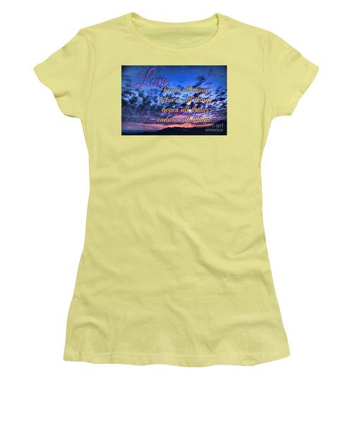 Love Bears All Things - Digital Painting Women's T-Shirt (Athletic Fit)