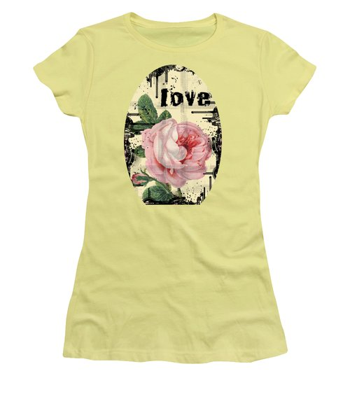 Love Grunge Rose Women's T-Shirt (Junior Cut) by Robert G Kernodle