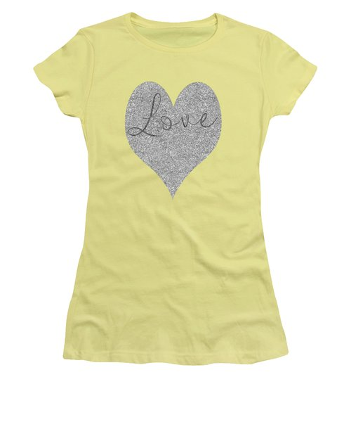 Love Heart Glitter Women's T-Shirt (Athletic Fit)