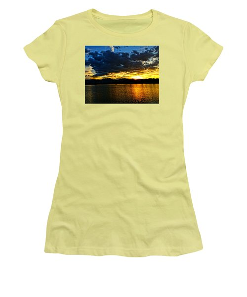 Women's T-Shirt (Junior Cut) featuring the photograph Love Lake by Eric Dee
