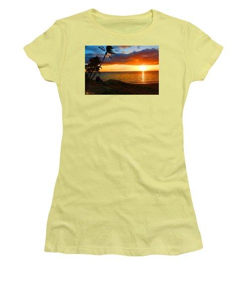 Lovers Paradise Women's T-Shirt (Junior Cut) by Michael Rucker