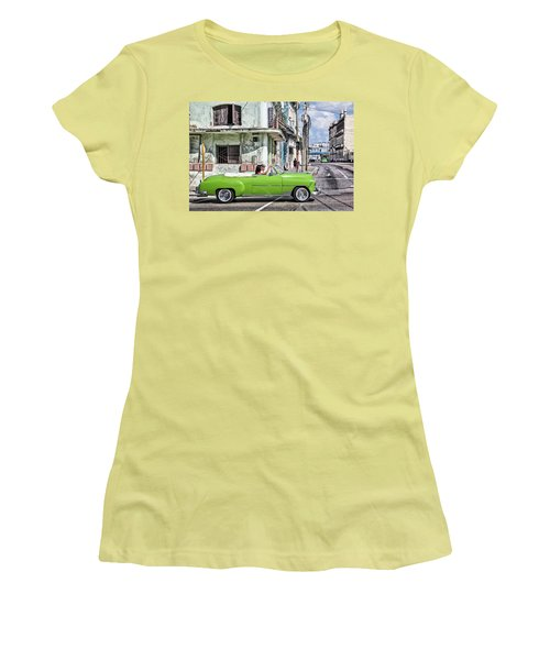 Lovin' Lime Green Chevy Women's T-Shirt (Athletic Fit)