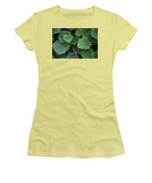 Women's T-Shirt (Junior Cut) featuring the photograph Low Key Green Vines by Jingjits Photography