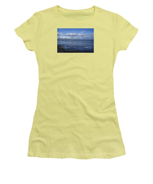 Low Tide At The Hook, Santa Cruz Ca Women's T-Shirt (Athletic Fit)