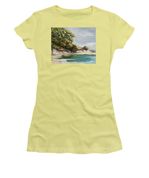 Low Tide Beach Women's T-Shirt (Athletic Fit)