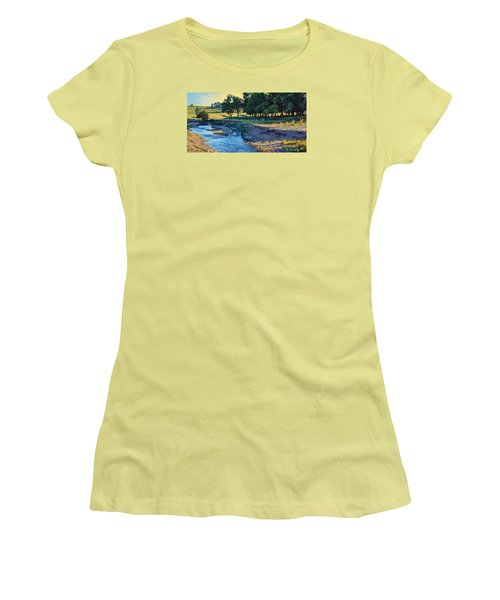 Low Water Morning Women's T-Shirt (Junior Cut) by Bruce Morrison