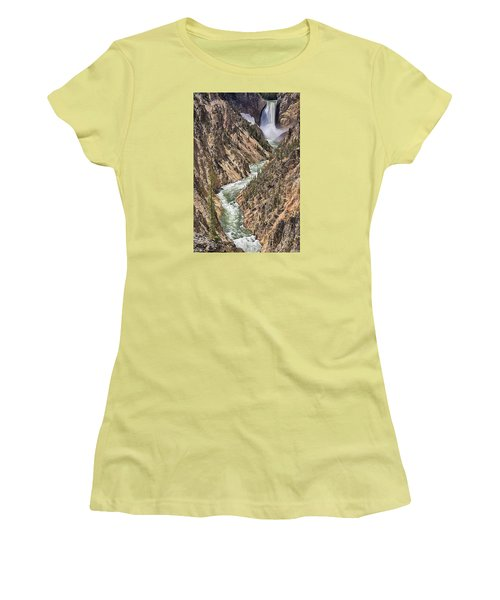 Lower Falls Women's T-Shirt (Junior Cut) by John Gilbert