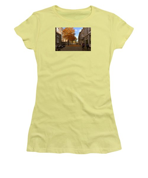 Little Lady Mary Square In October Maastricht Women's T-Shirt (Junior Cut) by Nop Briex