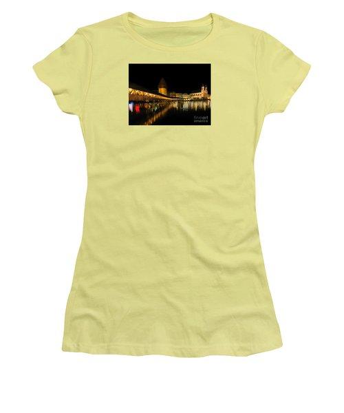 Lucerne Night Beauty II - Painting Women's T-Shirt (Junior Cut) by Al Bourassa
