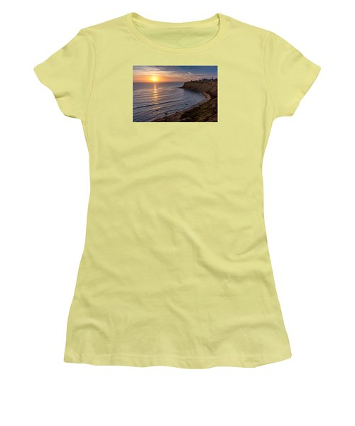 Lunada Bay Sunset Women's T-Shirt (Athletic Fit)