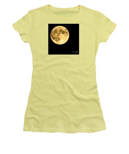 Lunar Close Up Women's T-Shirt (Junior Cut) by Sandy Molinaro