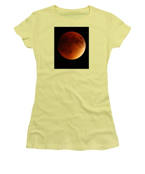 Women's T-Shirt (Junior Cut) featuring the photograph Lunar Eclipse 1 by Coby Cooper