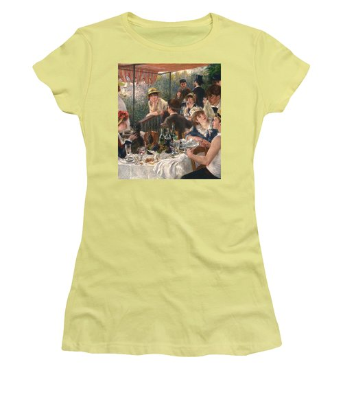 Luncheon Of The Boating Party By Renoir Women's T-Shirt (Athletic Fit)