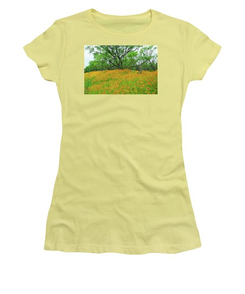 Lush Coreopsis Women's T-Shirt (Athletic Fit)