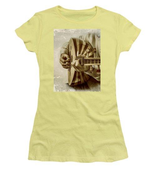Grey Lutenist Women's T-Shirt (Junior Cut) by Moustafa Al Hatter