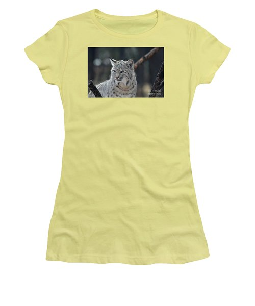 Lynx With A Very Unhappy Face Women's T-Shirt (Athletic Fit)