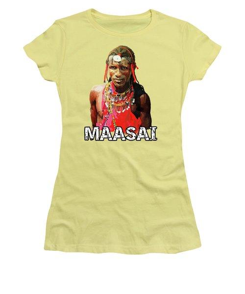 Maasai Moran Women's T-Shirt (Junior Cut) by Anthony Mwangi