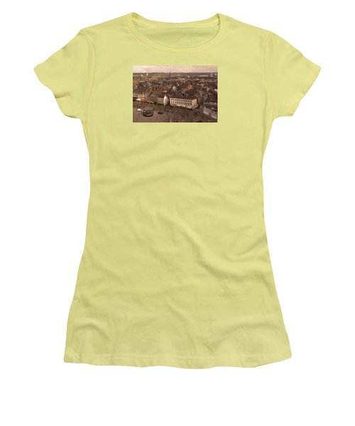 Women's T-Shirt (Junior Cut) featuring the painting Maastricht Direction East by Nop Briex