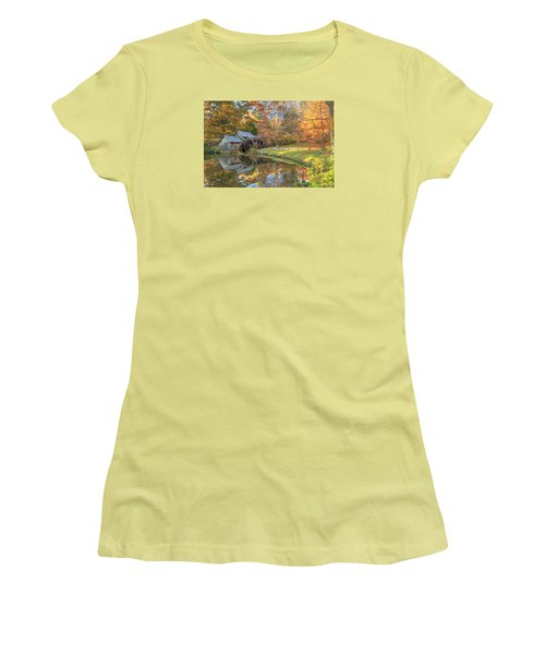 Mabry Mill. Blue Ridge Parkway Women's T-Shirt (Junior Cut) by Doug McPherson
