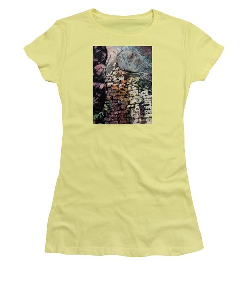 Machu Picchu Ruins- Peru Women's T-Shirt (Athletic Fit)