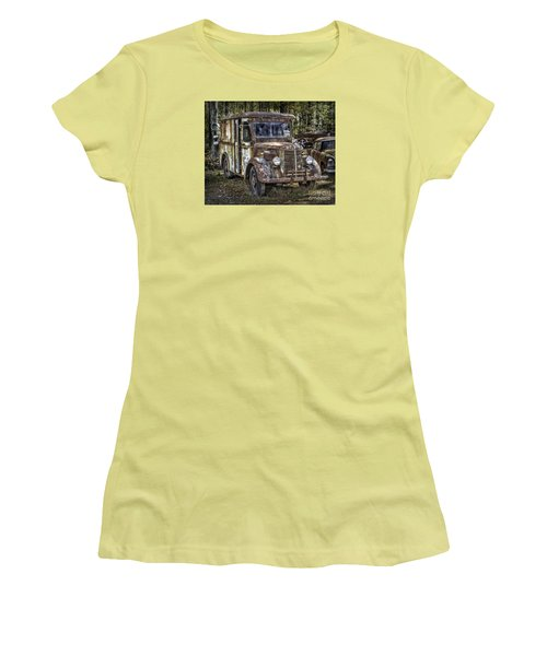 Very Old Mack Truck Women's T-Shirt (Junior Cut) by Walt Foegelle