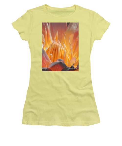 Macro Water Lily Women's T-Shirt (Junior Cut) by Chad and Stacey Hall