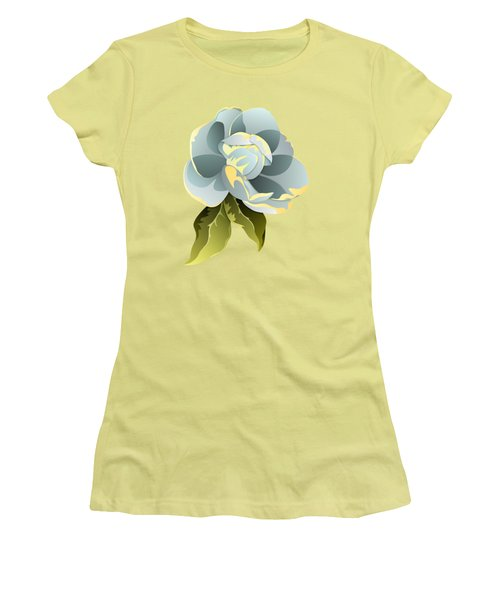 Women's T-Shirt (Junior Cut) featuring the digital art Magnolia Blossom Graphic by MM Anderson