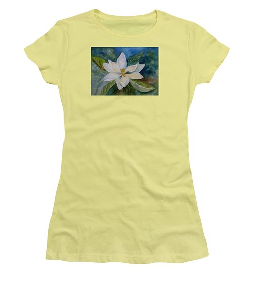 Women's T-Shirt (Junior Cut) featuring the painting Magnolia by Kerri Ligatich