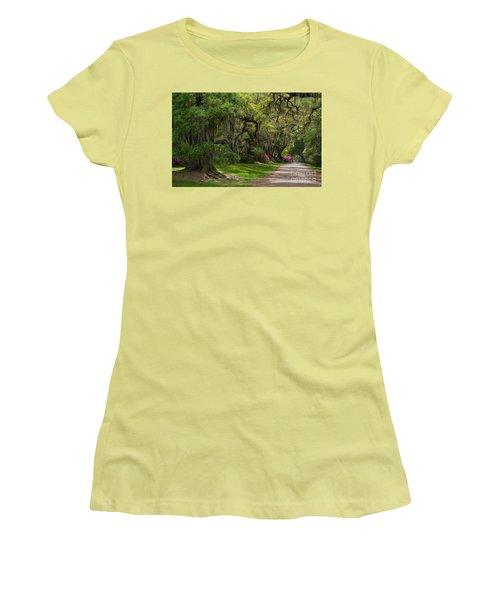 Magnolia Plantation And Gardens Women's T-Shirt (Junior Cut) by Kathy Baccari