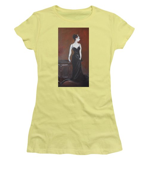 Women's T-Shirt (Junior Cut) featuring the painting Mah Lady by Gary Smith
