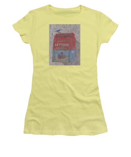 Women's T-Shirt (Junior Cut) featuring the painting Mail Call by Arlene Crafton