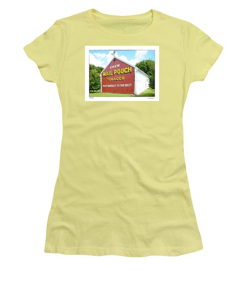 Women's T-Shirt (Junior Cut) featuring the photograph Mail Pouch by R Thomas Berner