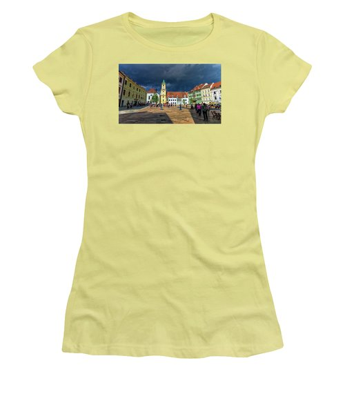 Main Square In The Old Town Of Bratislava, Slovakia Women's T-Shirt (Athletic Fit)
