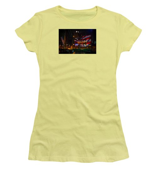 Main Street Station At Night Women's T-Shirt (Athletic Fit)