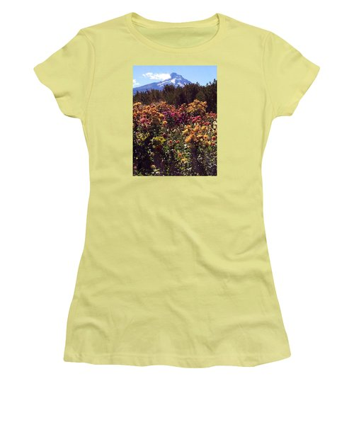 Majestic Mount Hood  Women's T-Shirt (Junior Cut) by Jennifer Lake