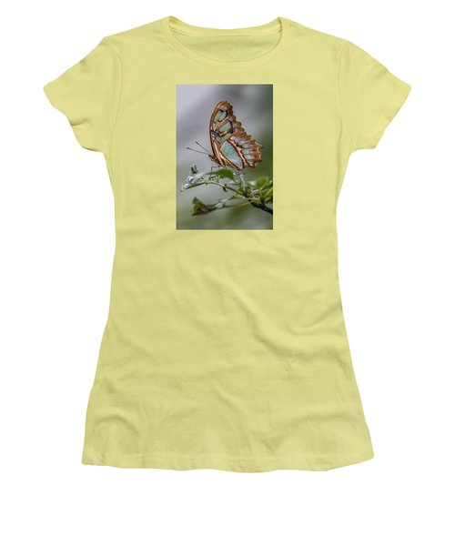Malachite Butterfly Profile Women's T-Shirt (Athletic Fit)